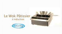 Wok patissier à induction tecnox
